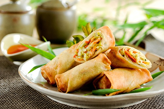 deep fried spring rolls are brittle pastries abounding with assorted ...