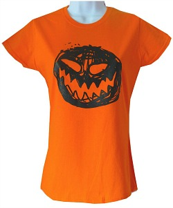 Orange Pumpkin T-Shirt for Women
