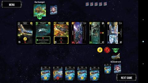 Así es el juego Star Realms para Android.