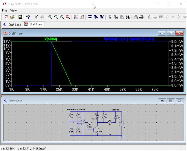 LTspice simulation with variable resistor