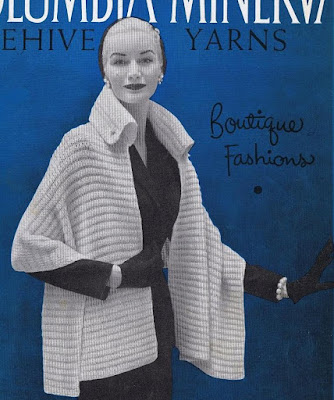 The Vintage Pattern Files: Free 1950's Knitting Pattern - The Manhattan Stole with Collar