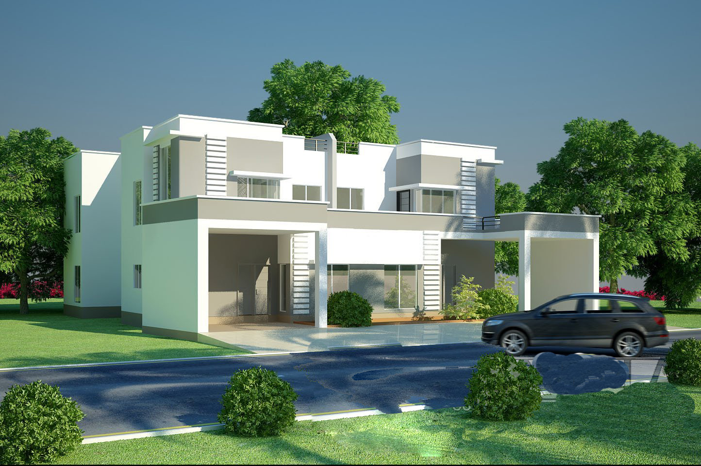 Modern homes beautiful latest exterior homes designs new home designs for Beautiful home entrance design