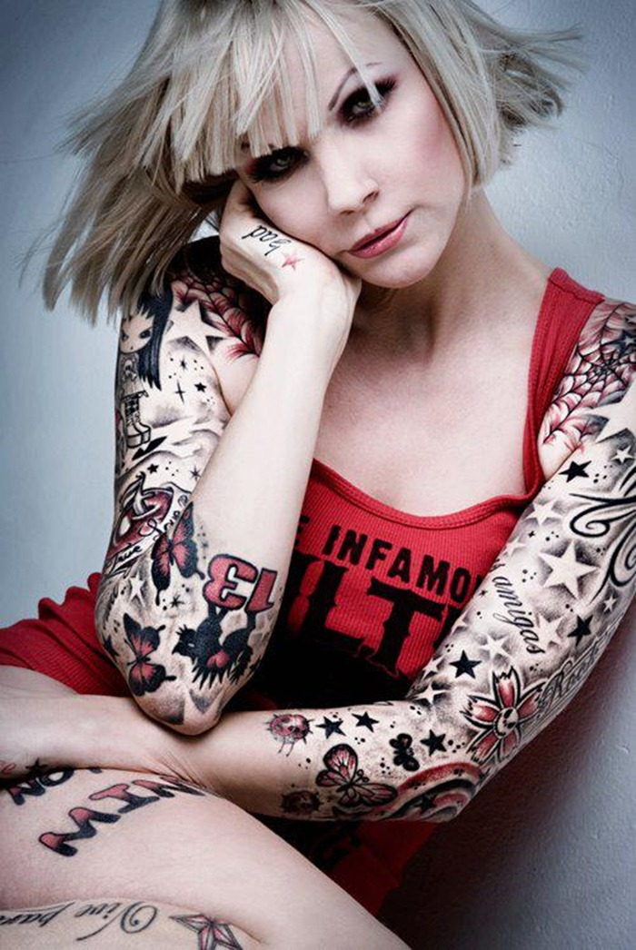 Cute tattoo designs for girls on arms and wrists glamour for Tattoo sleeve ideas girl