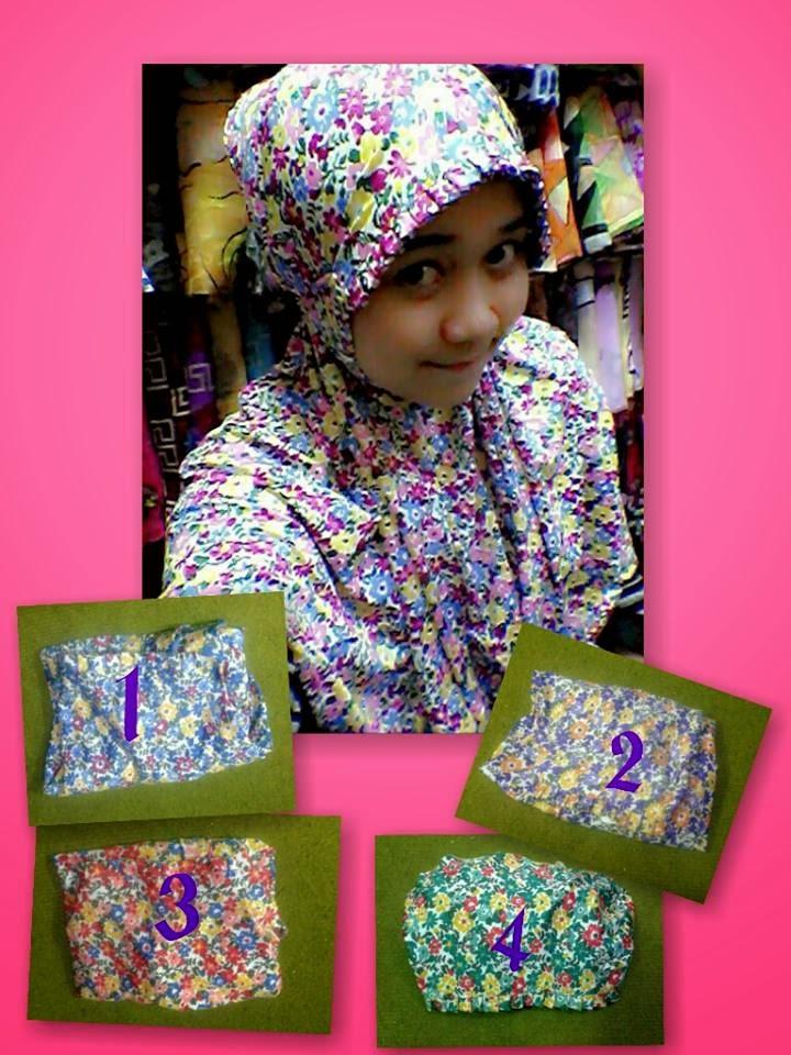 Koleksi Jilbab Murah Motif Bunga