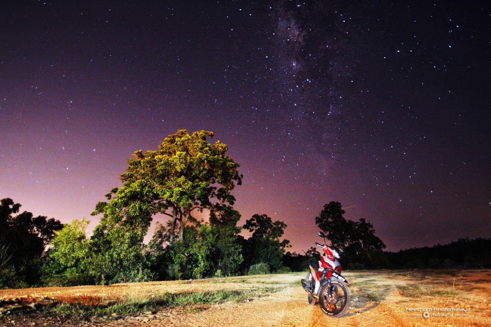 Milky Way di kampung Tepoh, Kuala Terengganu