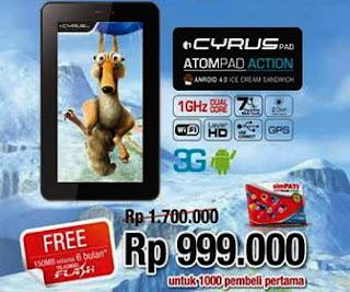 tablet terbaru cyrus pad 900ribuan