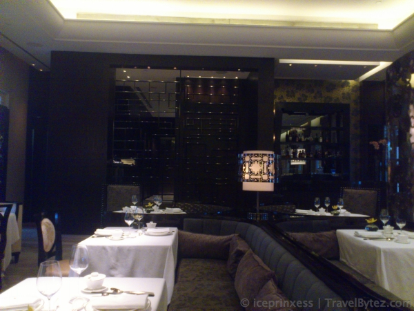 Cassia is Capella Singapore fine dining Chinese restaurant decor.