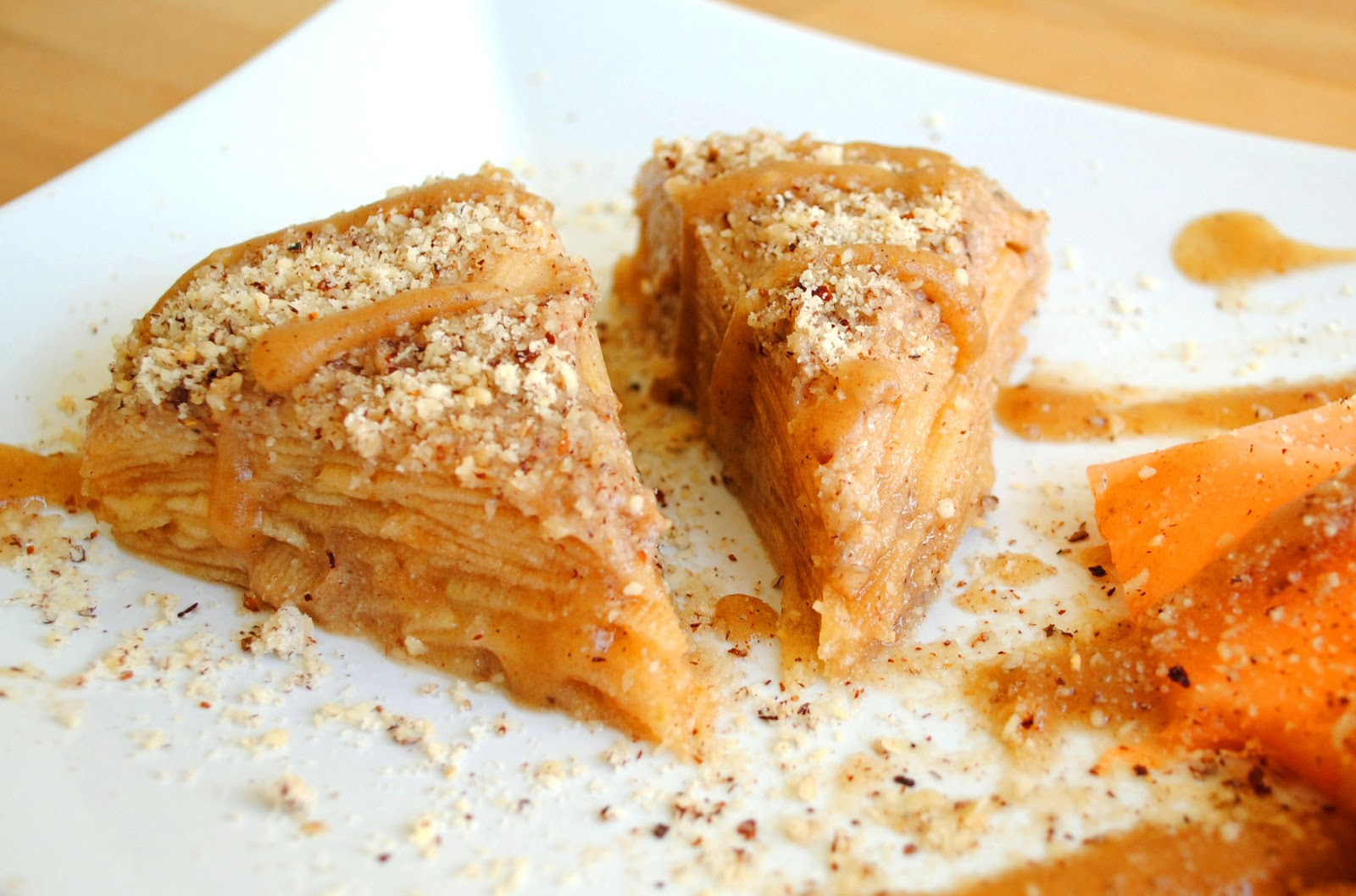 Raw apple pie without fatty nut crust yes you read right this sweet