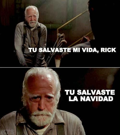 Tu salvaste mi vida Rick...salvaste la navidad