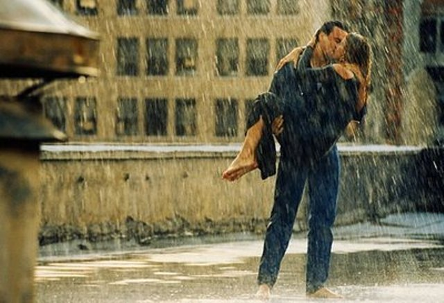 couples in rain
