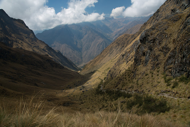 A photograph of Dead Womans Pass taken on Day 2 of the Inca Trail in Peru