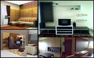 Setting Interior Ruang Keluarga