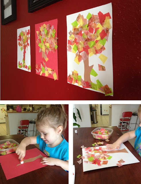 Tissue paper tree #paper #craft #fall ~ Life in Random Bits