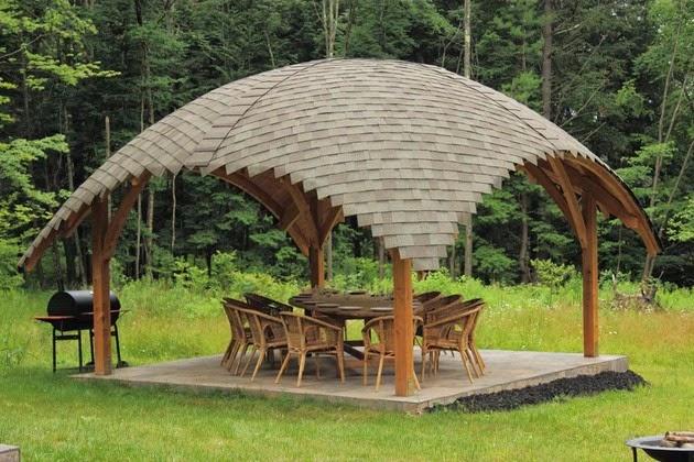 desain pondok kayu