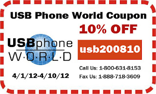 10% OFF coupon (usb200810) from USB Phone World