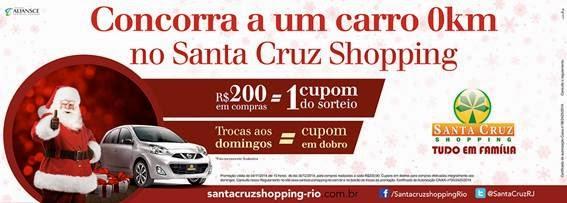 Santa Cruz Shopping sorteará um carro 0km na campanha de Natal