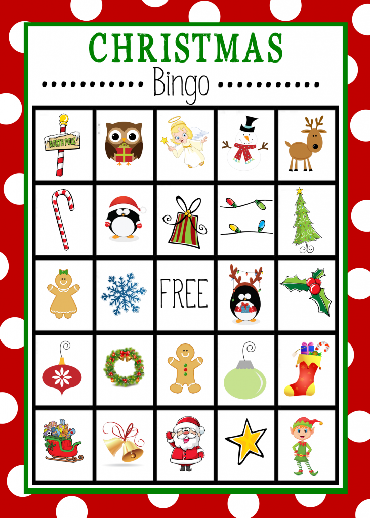 This Christmas Bingo card was found at www.crazylittleprojects.com