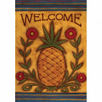 decorative pineapple welcome flag