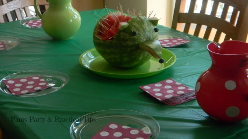 Woodland Party Hedgehog Watermelon