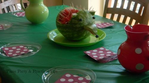 Woodland Party Hedgehog Watermelon