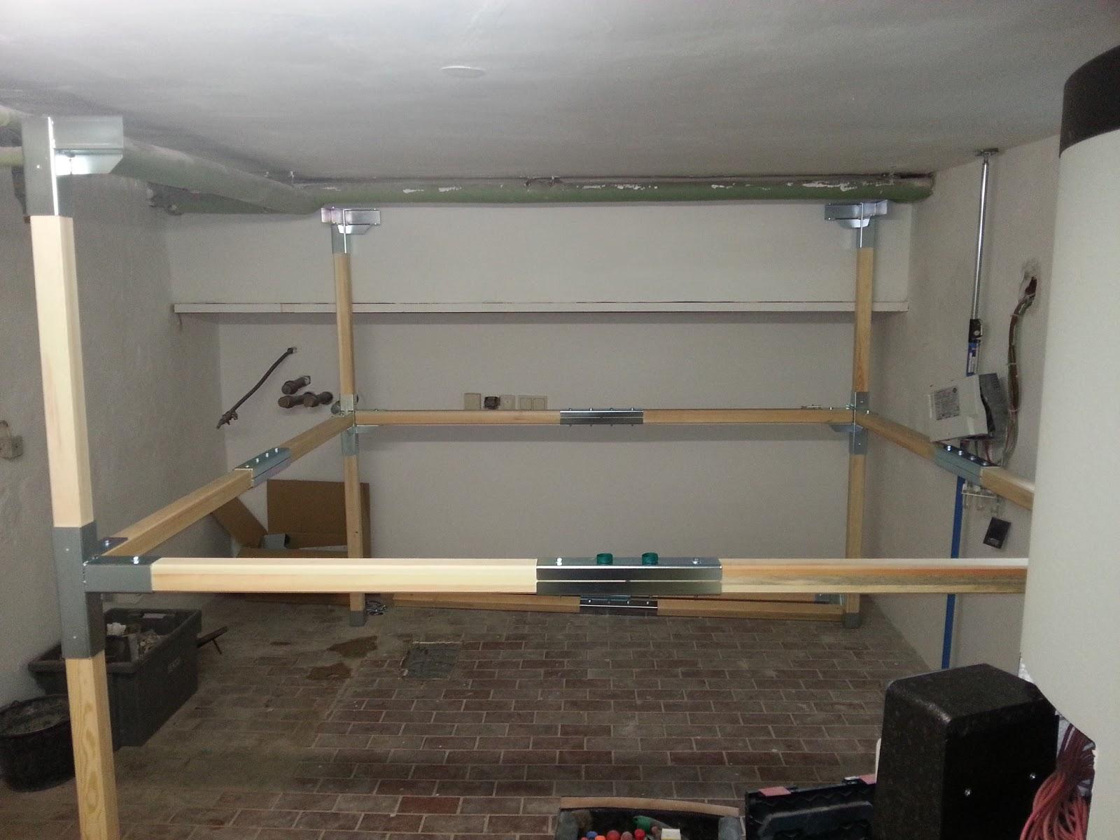 projekt pelletheizung der aufbau tag 1. Black Bedroom Furniture Sets. Home Design Ideas
