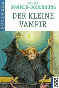 Portada alemana de El pequeño vampiro, de Angela Sommer-Bodenburg