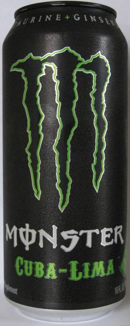 Caffeine King: Monster Cuba-Lima Energy Drink Review