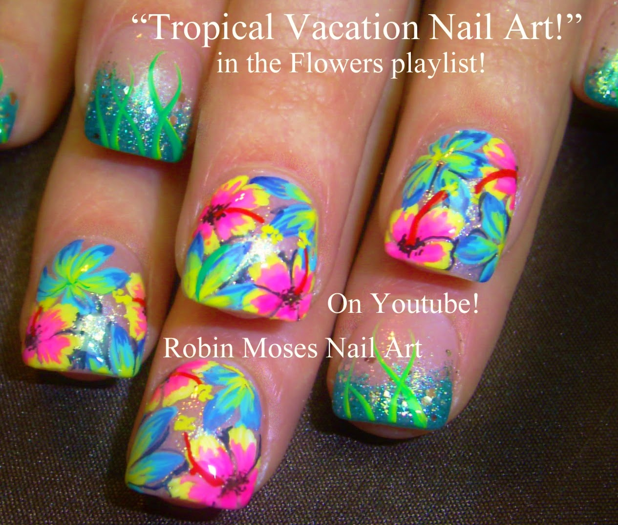 "Robin Moses Nail Art February 2015: Robin Moses Nail Art: ""flower Nail Art"" ""flower Nails"