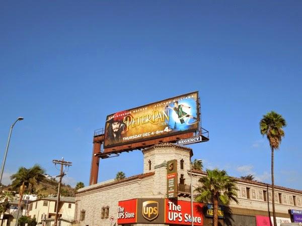 Peter Pan Live billboard