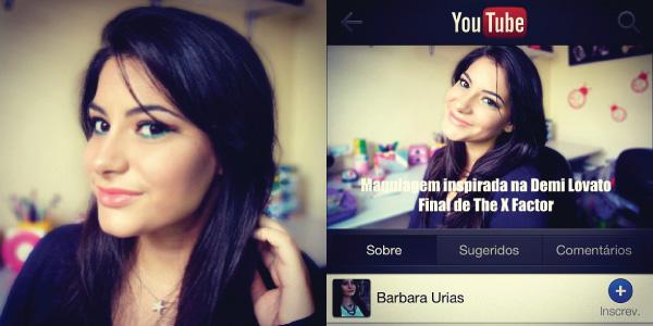 vídeo tutorial de maquiagem inspirada na Demi Lovato