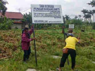 PT PKS Tertibkan Tanah di Kawasan Pondok Petir