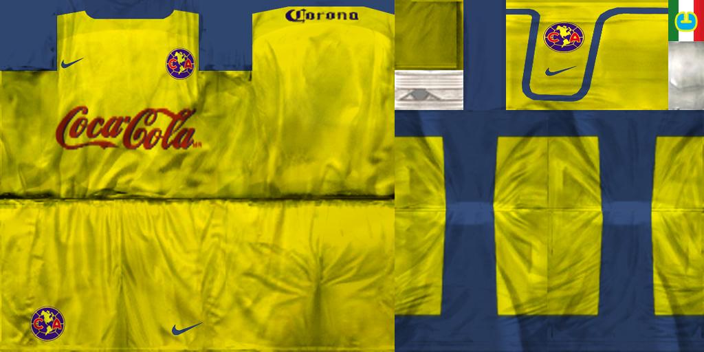Pes6 kits by johnny guitar club america mexico home kit 2003 04