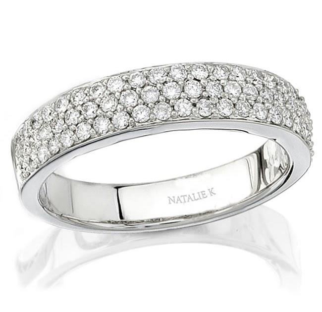 atlanta engagement rings 18k white gold halo pave diamond
