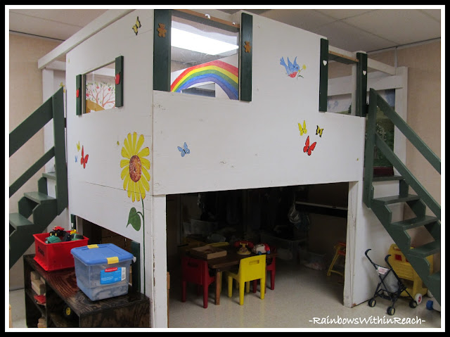 photo of: Library Loft in Preschool: Reading Corner RoundUP via RainbowsWithinReach
