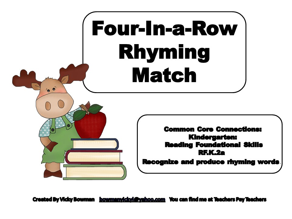 Four-In-a-Row Rhyming Match
