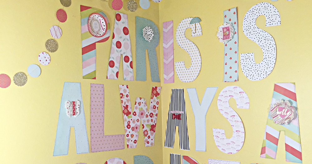 Heather Leopard: Hand Cut Letters DIY Room Decor Tutorial
