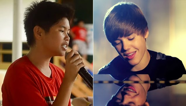 The girl who can copy Justin's voice and the original JB.