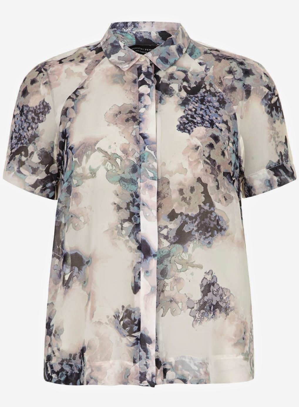 short sleeved floral blouse