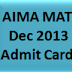 www.aima.in-Download MAT Admit Card December 2013