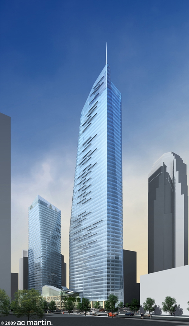 Rendering of main tower of Wilshire Grand by AC Martin Partners, Los Angeles, USA
