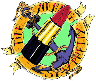 lips stick, anchor, tattoo, Kaiser Calavera, rock and roll, die young stay pretty, kitsch, rockabilly, ufo bar