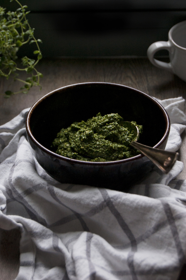 Cashew Pesto with Mint & Spinach