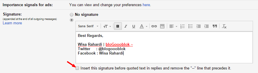 Cara Membuat Signature Pada Gmail, Yahoo dan Outlook