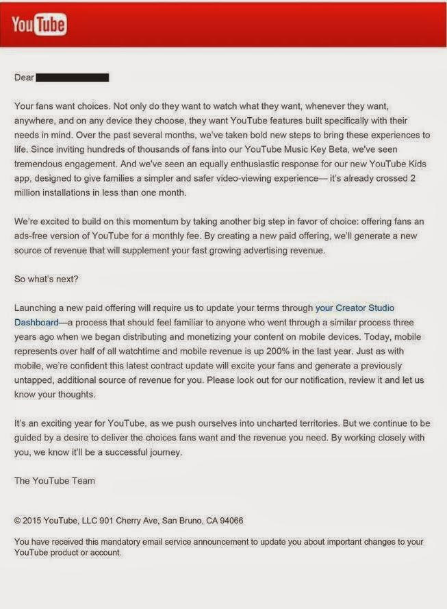 YouTube akan segera memperkenalkan tarif berlangganan
