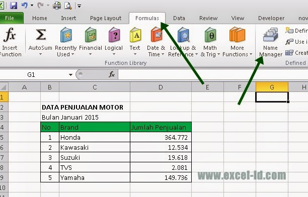 name manager in excel 2007 pdf