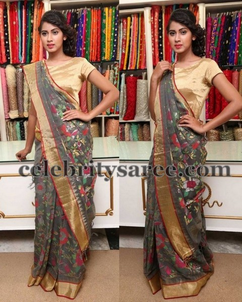Honey in Grey Uppada Saree