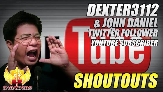 Shoutouts, Dexter3112 & John Daniel, 2/13/2015