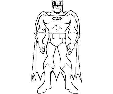 #2 Batman Coloring Page