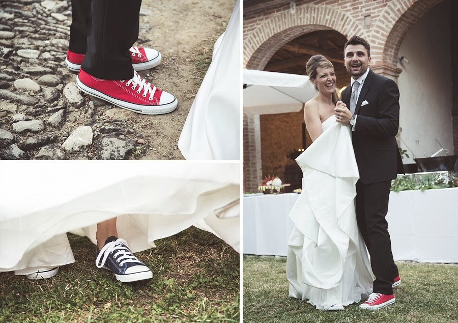 Matrimonio informale, sposi con le all star