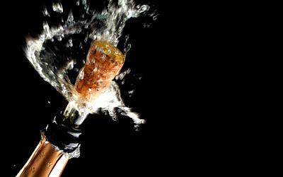 champagne descorchado